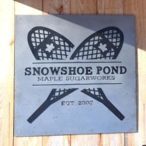 Snowshoe Pond Sign