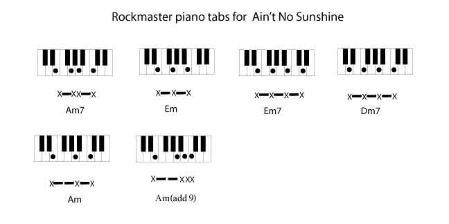 Aint No Sunshine Am By Bill Withers Rockmaster Songbook