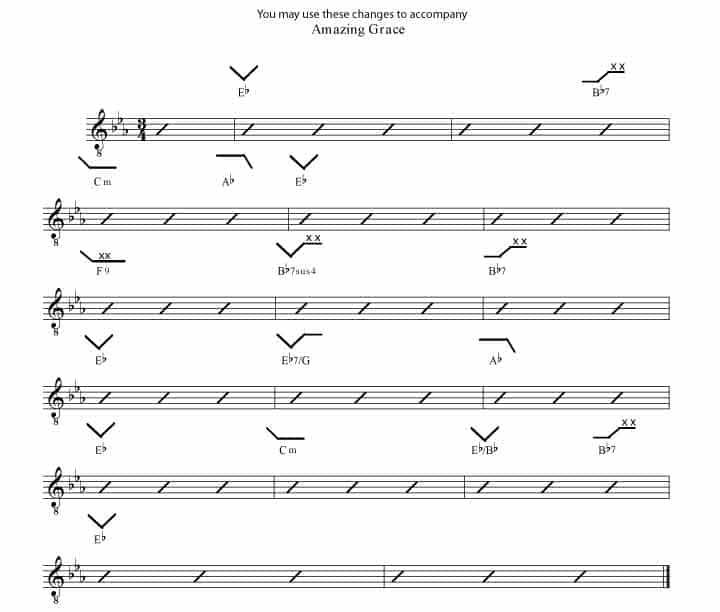 Amazing Grace Eb Rockmaster Songbook