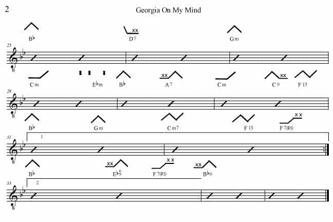 Georgia On My Mind Bb with Billie Holiday - Rockmaster Songbook