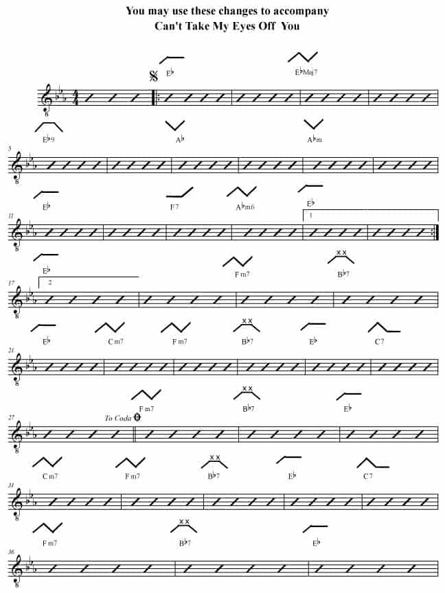 Can\'t Take My Eyes Off You Eb - Rockmaster Songbook