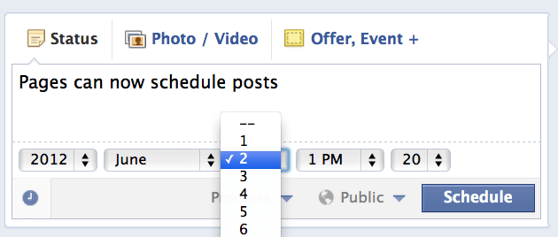 Facebook Brings Scheduling To Pages