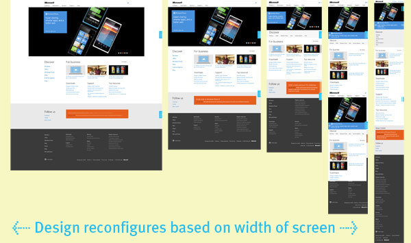 Microsoft's New Responsive Web Design