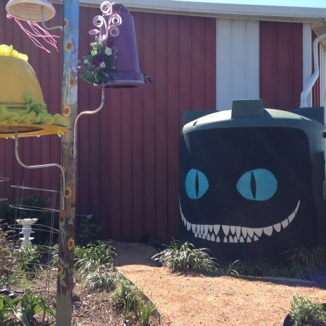 The Cheshire Cat just grins.