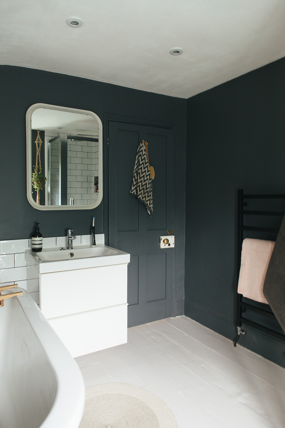 Choosing a light or dark bathroom colour scheme for a