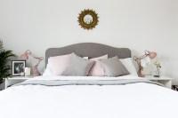 Grey, white & blush bedroom