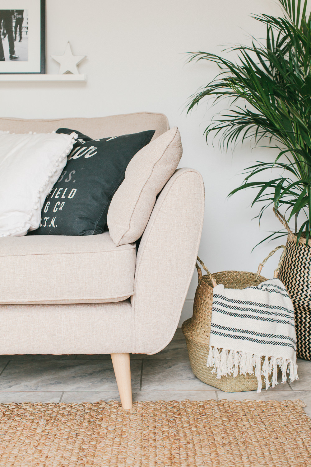Scandi Boho Living Room Makeover Reveal In A New Build Property