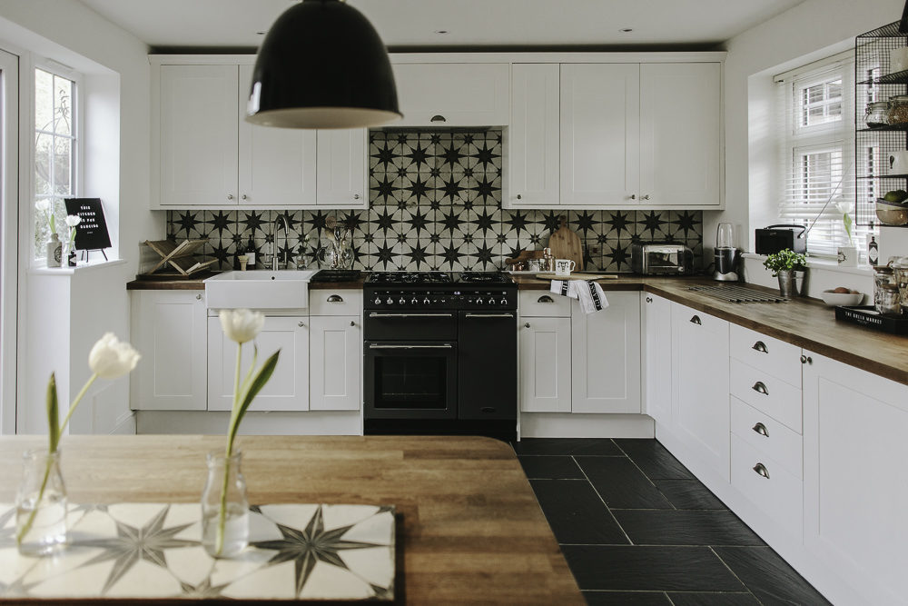 White Small Kitchens Updating A Large Kitchen On A Small Budget - Rock My Style