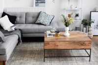 Stylish monochrome and grey living room inspiration with ...