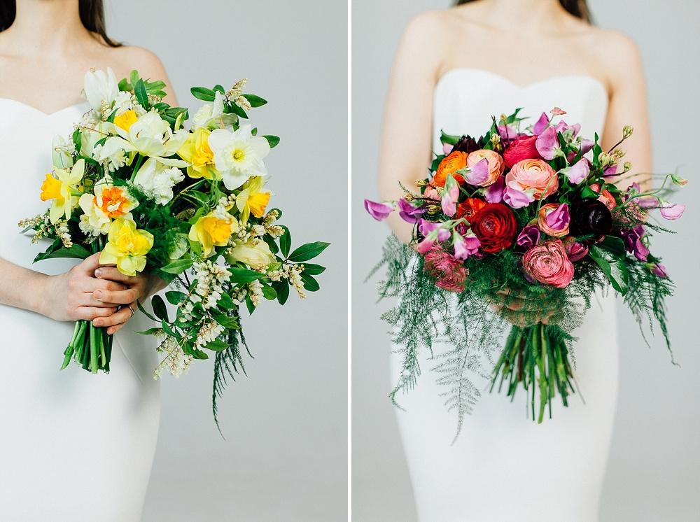Spring Wedding Bouquets Using Seasonal British Blooms