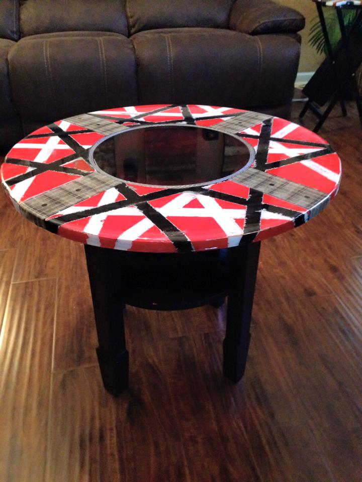 EVH guitar styled table