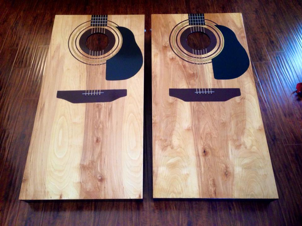 guitar cornhole boards