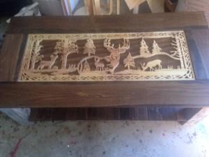deer scene coffee table