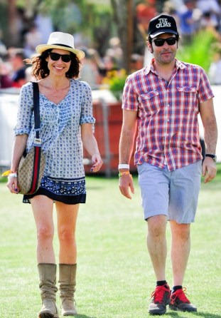 Minnie Driver puts on a big smile at Coachella **USA ONLY**