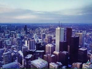Toronto depuis la CN Tower.