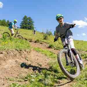 Trottinette tout terrain bike park Abries famille