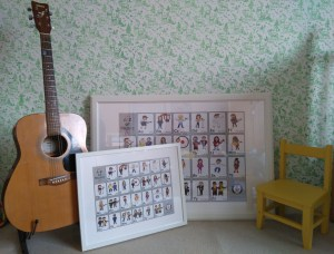 Large and small sizes shown framed