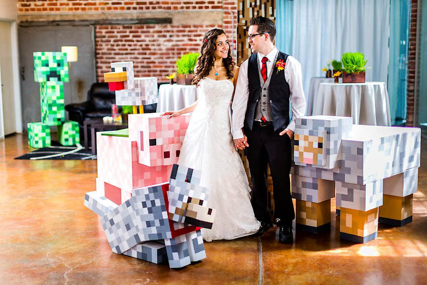 The Minecraft Wedding: Matt & Asia · Rock N Roll Bride