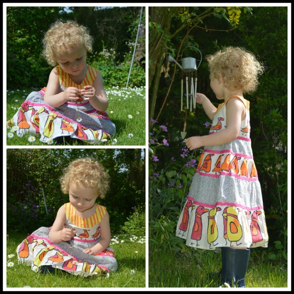 Harriet Simons George All Over Bird Print Cotton Dress 1