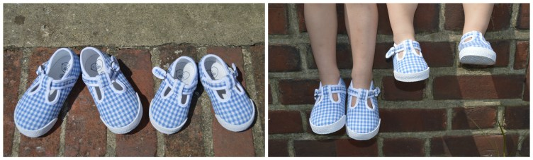 Little Bird By Jools Gingham Canvas Shoes 5