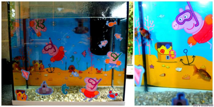 The fish in their Peppa Pig environment!