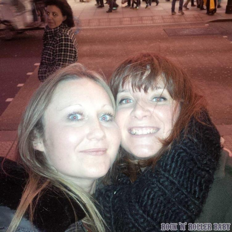 Katy and I trying and failing to get the Selfridges lights behind us in our selfie!