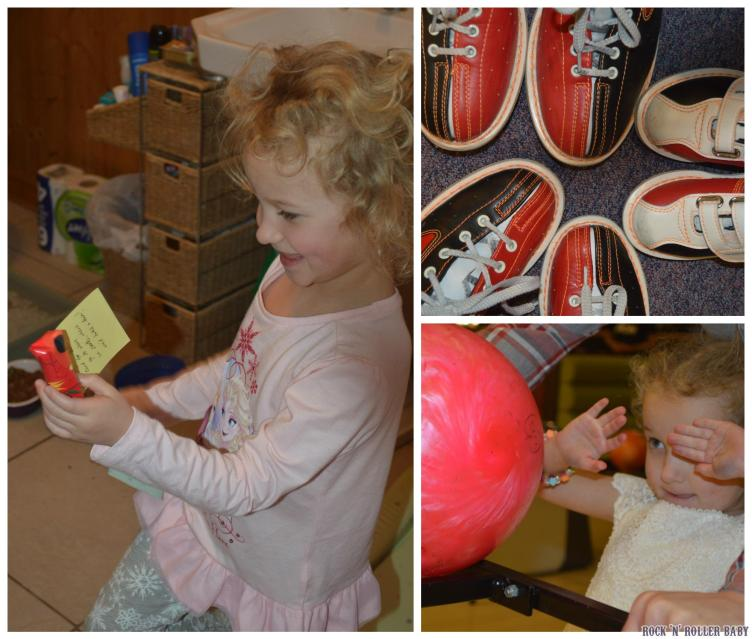 A birthday treasure hunt was followed by bowling!