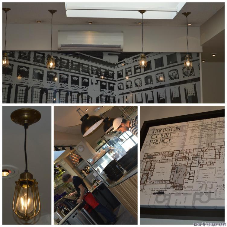The decor at Hampton Court's Pizza Express!