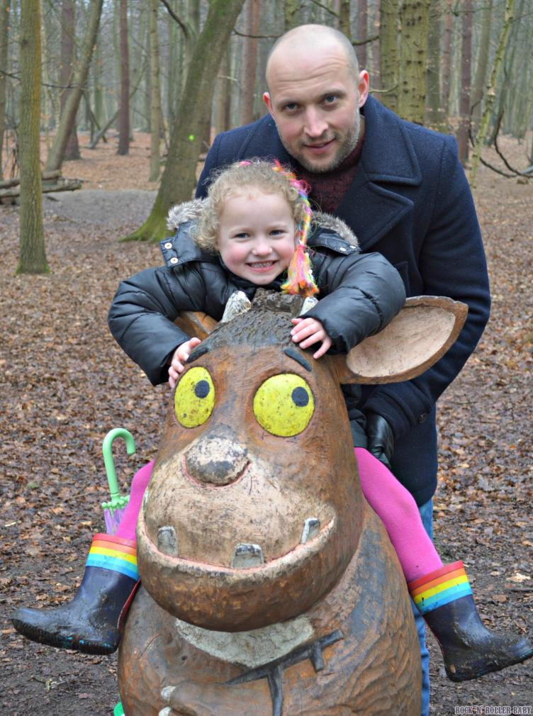 I tried to get Jimmy in this picture but he was scared of the Gruffalo's Child so didn't want to get too close!