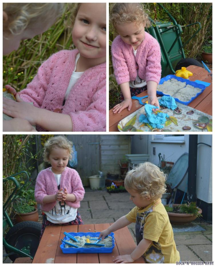 Both children enjoyed playing with it outside at my Mum'd house but we can take it home and play indoors at our house too!