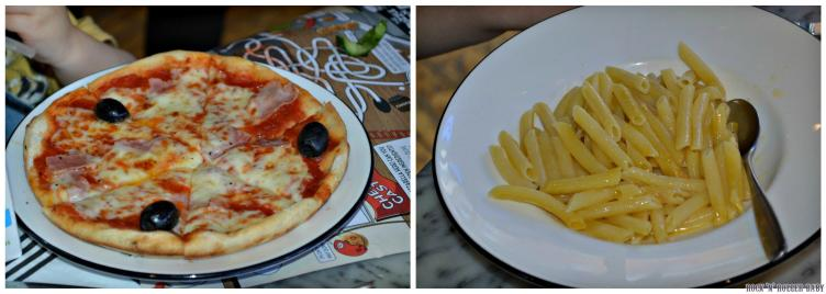 The children don't like to stray too far from their comfort zone and when you've been to Pizza express as many times as they have you certainly know what you like. La Reine for Jimmy WITHOUT the mushrooms and Florence's 'off menu' garlic butter pasta! They were as pleased as ever!