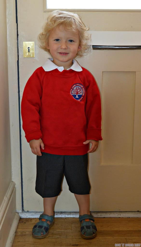 My little bundle of gorgeousness on his first day at nursery!