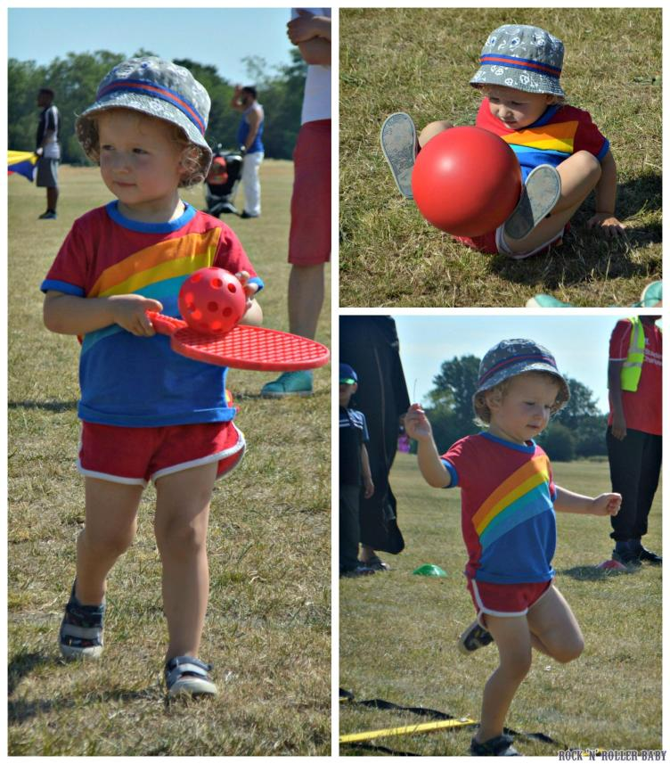 Jimmy enjoying sports day recently at the nursery attached to Florence's school!