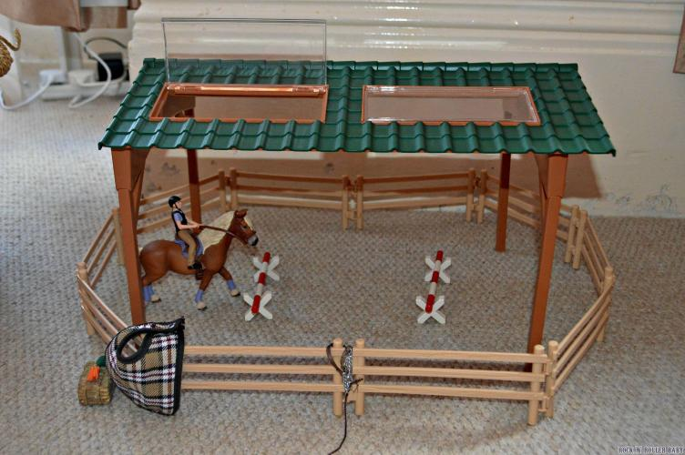 this is Florence's Schleich Riding Arena which the new horses and accessories go with fabulously!