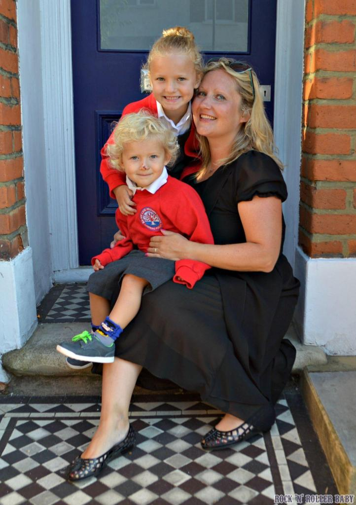 This was the first day last September in 2015. Me and my guys going into nursery and Year one!