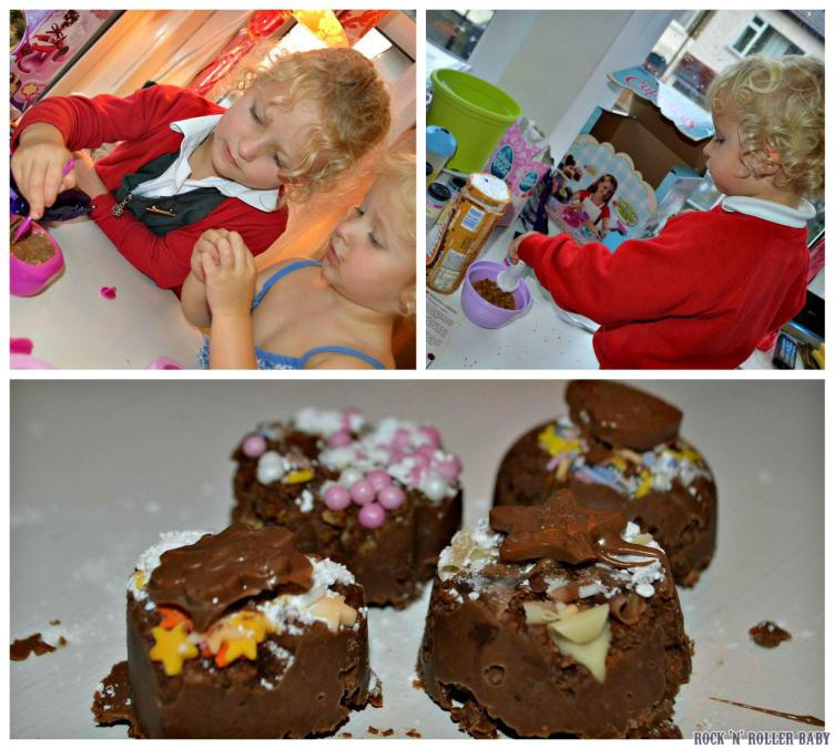 Mini cup cake making! Mix, melt and freeze is all you need to do!