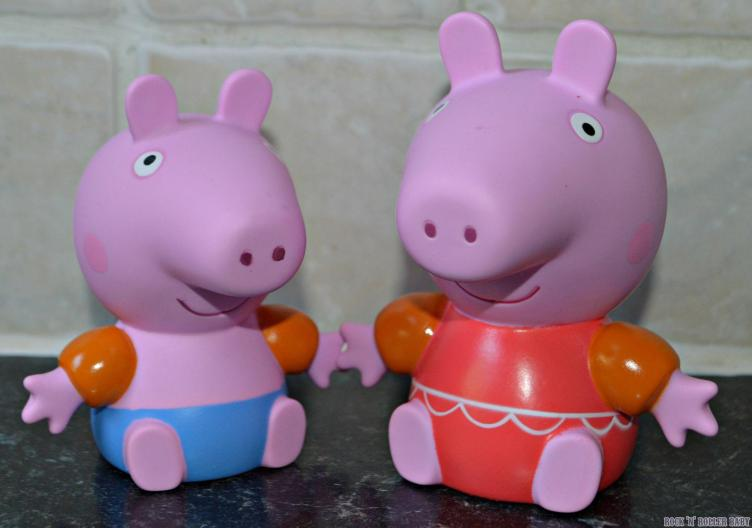 The Peppa Pig Zoggs squirts toys!