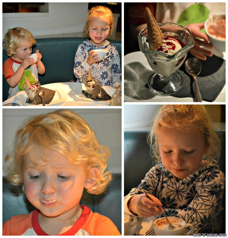 Although the children love the food at Pizza express and ice cream is always a treat it's the bambinoccino that is the crowning glory for them!