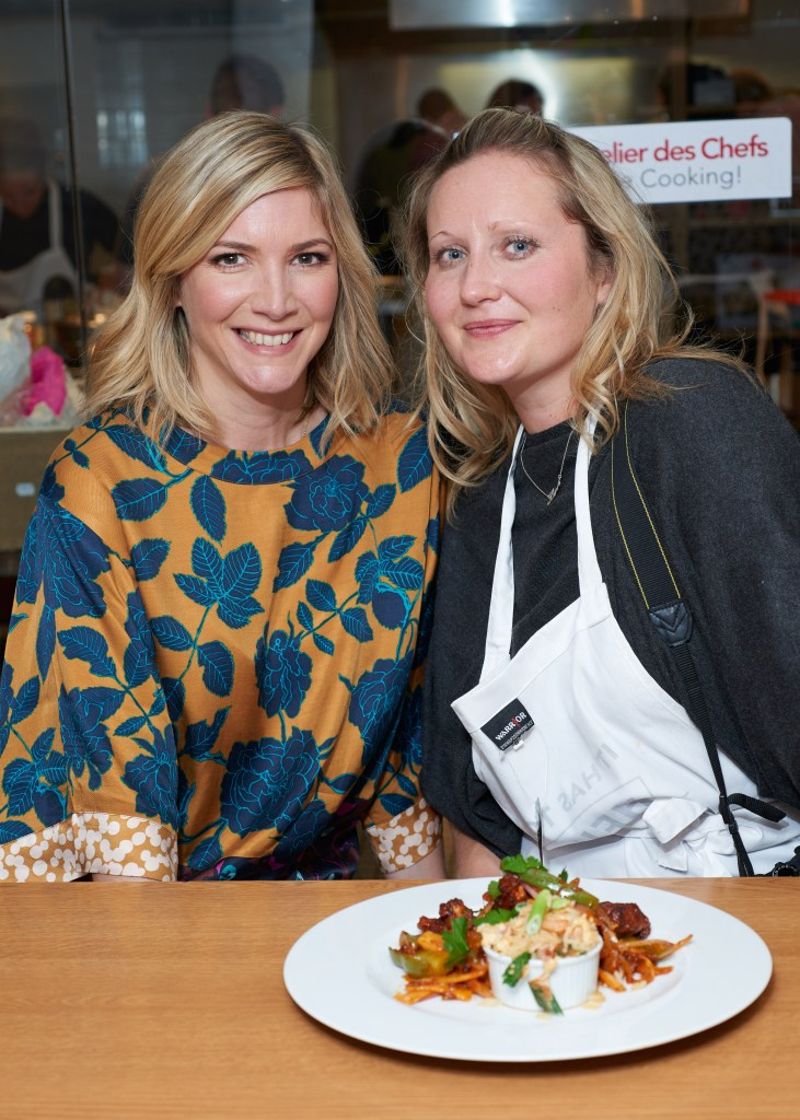 Lisa, me and my dish, which I've named CHeinz-nese Chicken!
