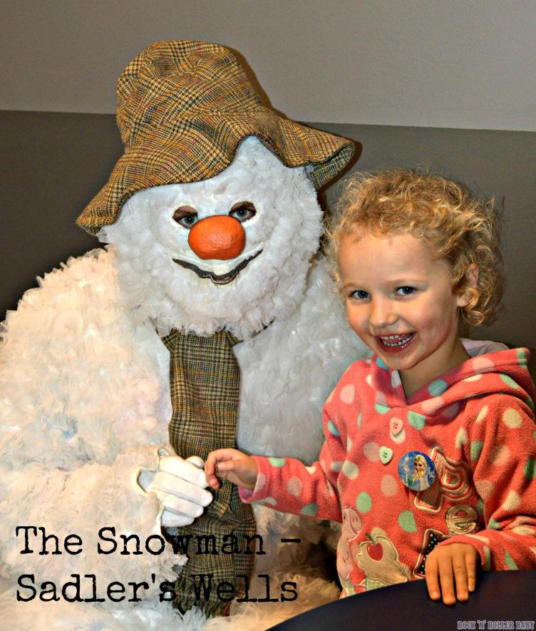Florence with The Snowman before last year's performance!