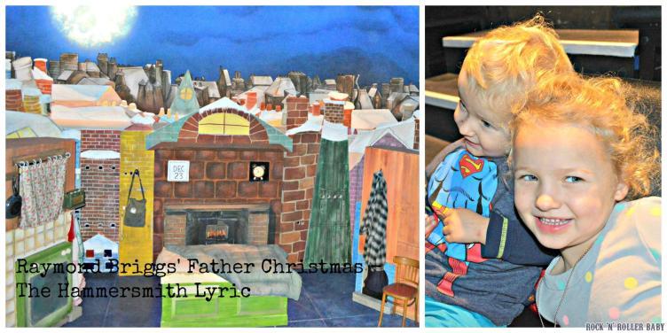 Last year at The Lyric Hammersmith where we enjoyed Raymond Briggs' Father Christmas!