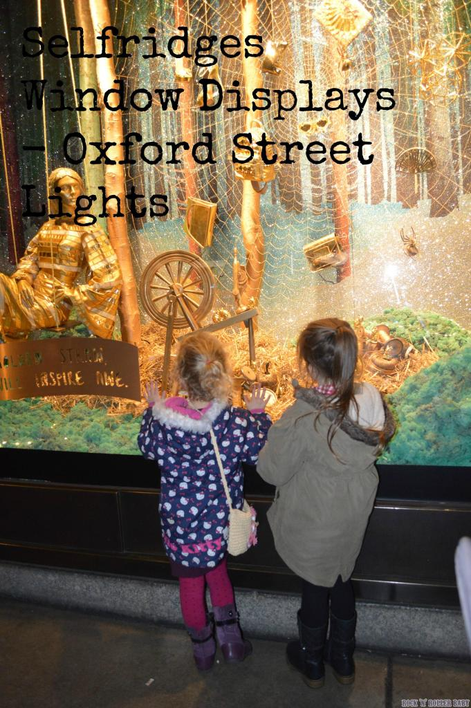 Florence and her pal Daisy who belongs to Modern Mummy looking in one of the windows at Selfidges last year!
