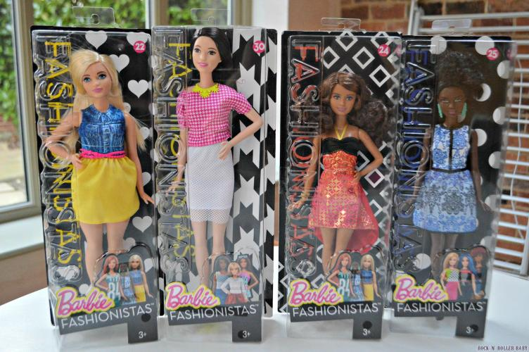 A curvy, tall and two petite Barbies!