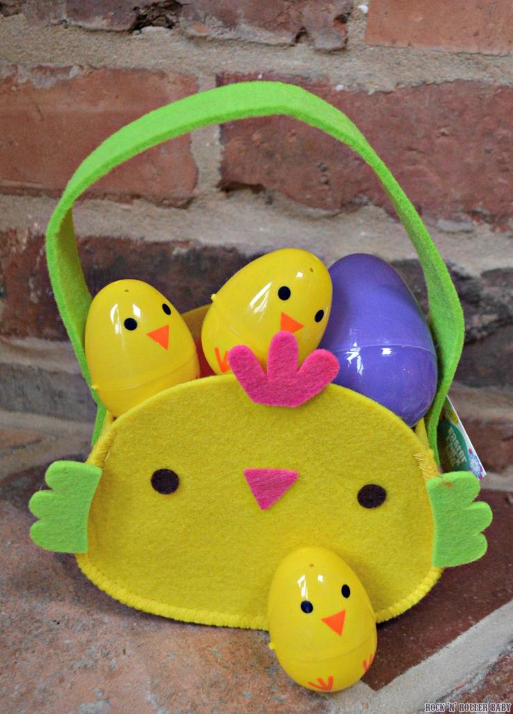 I absolutely love these plastic fillable eggs shaped like chicks!