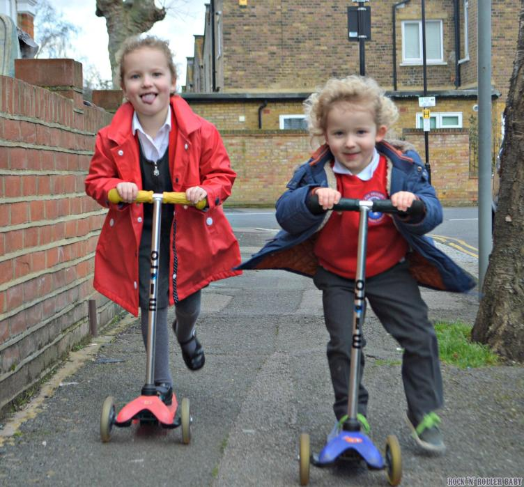 The children love to scoot and I'm going to join them in a bid of positivity anf being a #BigKid!