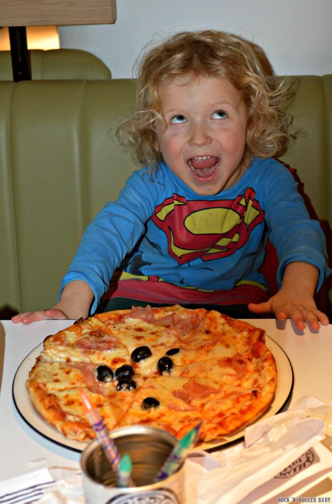 Someone who was VERY happy with his creation (albeit made good by the chefs so skillfully that he didn't notice)!