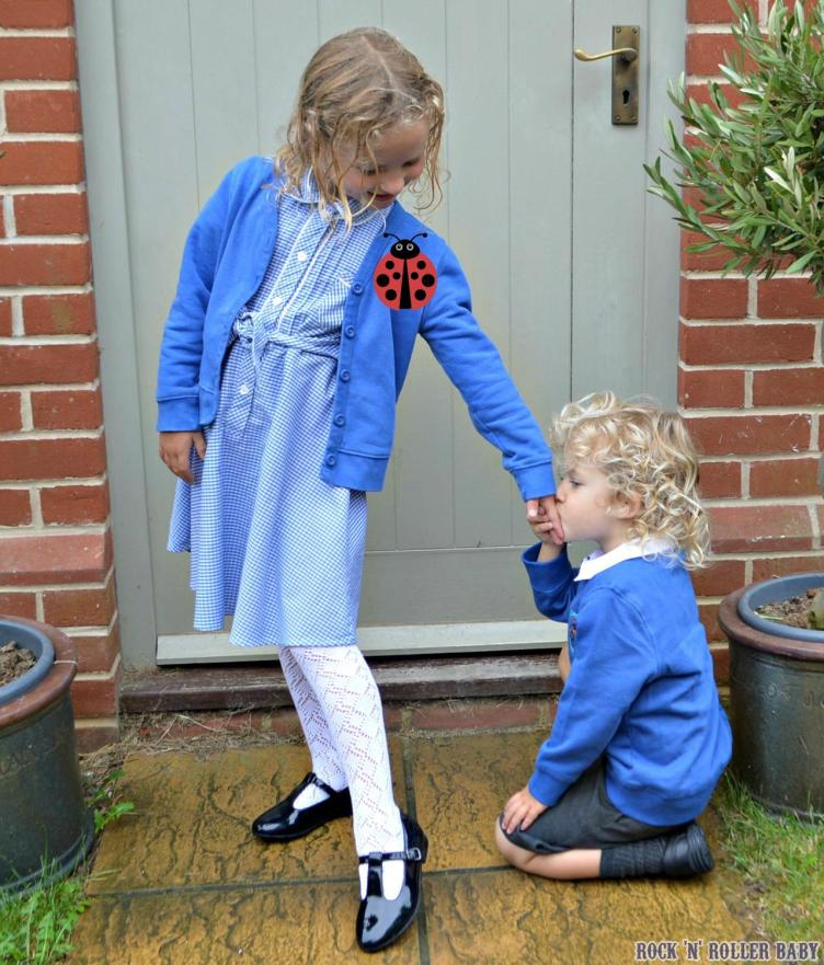 Mucking about being a Prince Charming on the first day of school!
