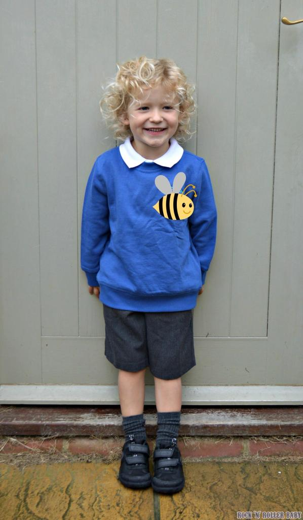 The first day of school outside the front door picture!