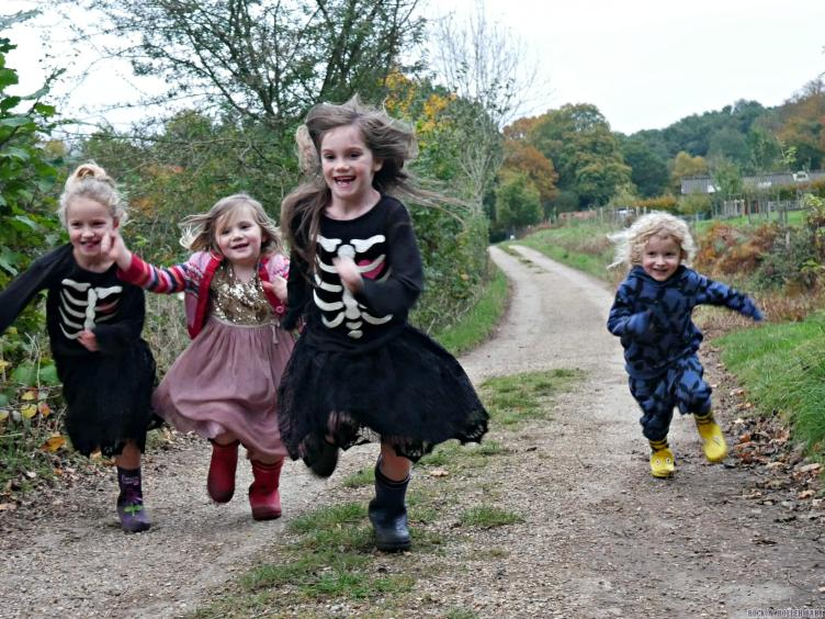 We took the children for a run in the woods in Haselmere to work up their appetites!