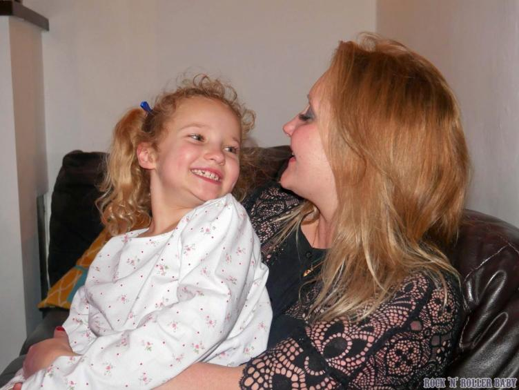 Twenty to midnight on New Year's Eve - me and my girl, 7 years to the minute she was born!